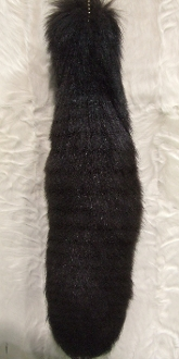 Dyed Brown Fox Tail with chain