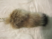Natural Lynx tail with ballchain