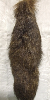 Dyed Gold Tundra Fox Tail with Balchain
