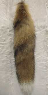 Natural Red Fox tail with tip and Ballchain