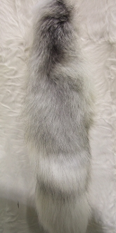 Natural Platinum Fox Tail with ballchain